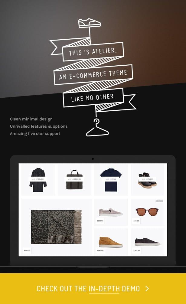 WordPress theme Atelier - Creative Multi-Purpose eCommerce Theme (WooCommerce)