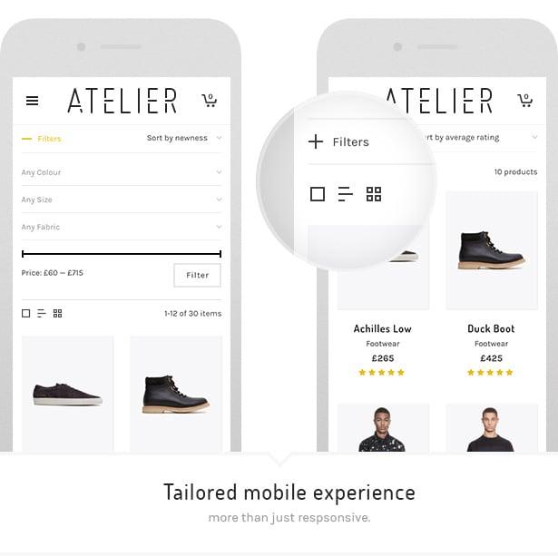 3 atelier mobile - Atelier - Creative Multi-Purpose eCommerce Theme